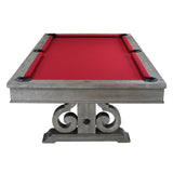 The Barnstable 8' Pool Table in Weathered Oak Finish By Imperial front view