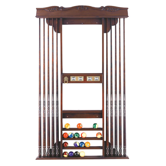 Cavalier II Deluxe Pool Cue Wall Rack by Olhausen for sale online