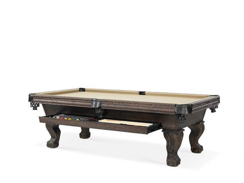 "The ""DIXON"" 8ft Pool Table by Plank and Hide with Drawer"