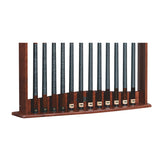 Gold Crown Pool Cue Wall Rack by Brunswick bottom detail