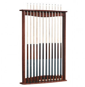 Gold Crown Pool Cue Wall Rack by Brunswick