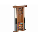 Heritage Pool Cue Wall Rack by Brunswick light stain