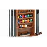 Heritage Pool Cue Wall Rack by Brunswick detail