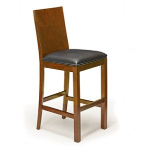 Brunswick Heritage Wood Back Bar Stool x2