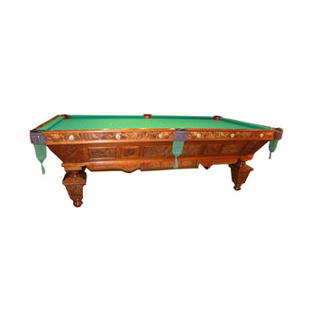 Manhattan Antique Ft Pool Table Newly Refinished For Sale Online - Brunswick manhattan pool table