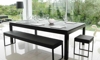Fusion ~ Black Powder Coated Table 7'