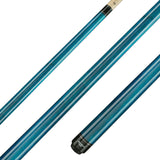 Valhalla Pool Cue Blue Stain, Hard Rock Maple & Silver Rings - VA103 for sale online