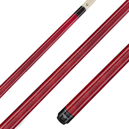 Valhalla Pool Cue Red Stain, Hard Rock Maple & Nickel Silver Rings - VA104 for sale online