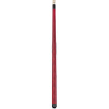 Valhalla Pool Cue Red Stain, Hard Rock Maple & Nickel Silver Rings - VA104 entire cue stick