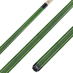 Valhalla Pool Cue Green Stain, Hard Rock Maple & Nickel Silver Rings - VA105 for sale online