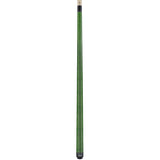Valhalla Pool Cue Green Stain, Hard Rock Maple & Nickel Silver Rings - VA105 entire cue stick