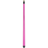 Valhalla Pool Cue Ultra Pink Opaque, Hard Rock Maple & Nickel Silver Rings - VA106 entire cue stick