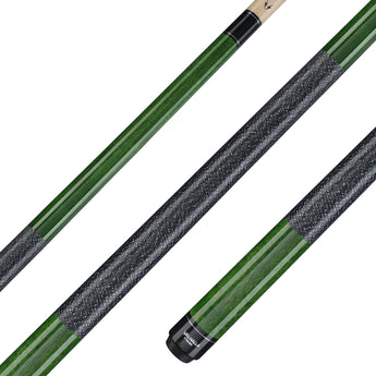 Valhalla Pool Cue Green Stain, Linen Wrap Hard Rock Maple & Nickel Silver Rings - VA115 for sale online