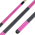 Valhalla Pool Cue Ultra Pink, Linen Wrap Hard Rock Maple & Nickel Silver Rings - VA116 for sale online