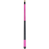 Valhalla Pool Cue Ultra Pink, Linen Wrap Hard Rock Maple & Nickel Silver Rings - VA116 entire cue stick