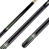 Valhalla Pool Cue, Linen Wrap, Nickel Silver Rings Hard Rock Maple & Graphic Point Transfers - VA321 for sale online