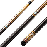 Valhalla Pool Cue Multi-Color Graphics,Nickel Silver Rings, Linen Wrap, Hard Rock Maple - VA502 for sale online