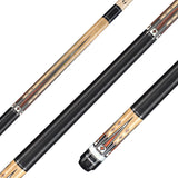 Valhalla Pool Cue Multi-Color Graphics, Nickel Silver & White Pearl Rings, Linen Wrap, European Stain- VA702 for sale online