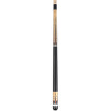 Valhalla Pool Cue Multi-Color Graphics, Nickel Silver & White Pearl Rings, Linen Wrap, European Stain- VA702 entire cue stick
