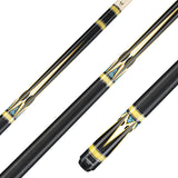 Valhalla Pool Cue HD Graphic Transfers, Nickel Silver & Pearl Rings, Michigan Maple, Linen Wrap - VA950 for sale online