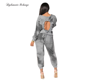 Loose & Sporty Two Piece Tie Dye Tracksuit