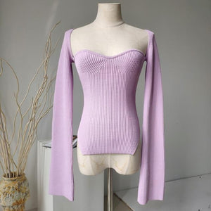 Sleeved Cashmere Pullover