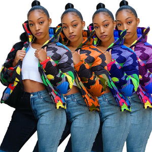 Women's Camouflage Multi Color Jacket