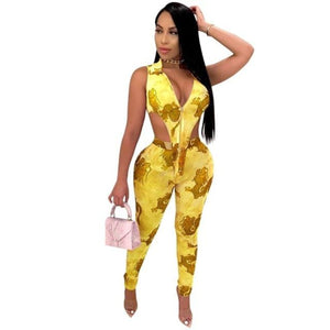 Dragon Print Two Piece Pant Set