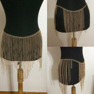 Belly Waist Body Chain Tassel - Diplomatic Xchange