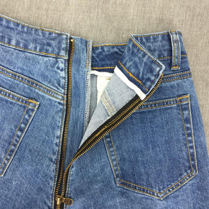 Back Zipper Jeans Shorts - Diplomatic Xchange