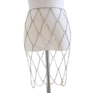 Rhinestone Crystal Skirt Body Chain - Diplomatic Xchange
