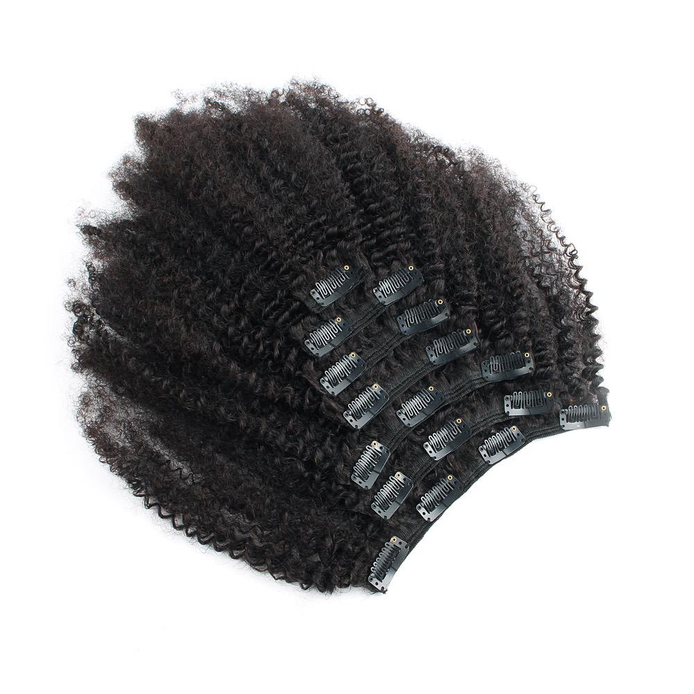 AFRO TIGHT CURLY 4B - 4C  CLIP INS