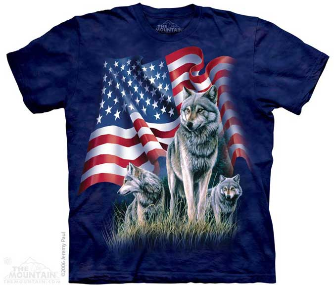 The Mountain Wolf Flag T-Shirt