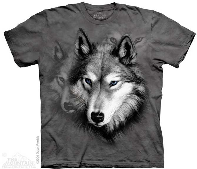 The Mountain Wolf Portrait T-Shirt