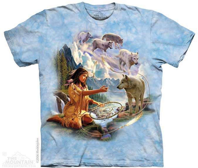 The Mountain Dreams of Wolf Spirit T-Shirt
