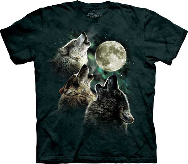 The Mountain Three Wolf Moon Classic T-Shirt