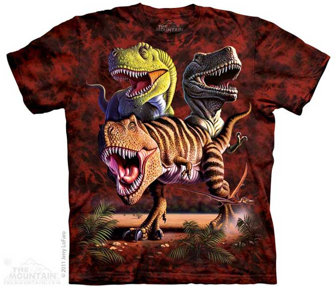 The Mountain T-Rex Collage T-Shirt