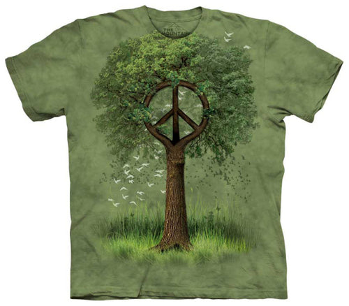 The Mountain Roots of Peace Tree T-Shirt
