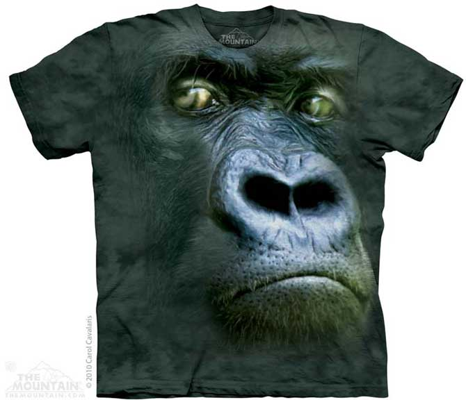 The Mountain Gorilla Silverback Portrait T-Shirt