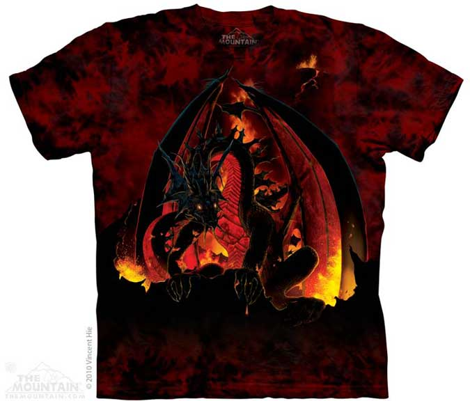 The Mountain Fireball Dragon T-Shirt