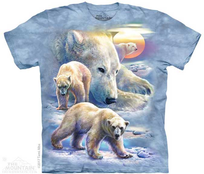 The Mountain Sunrise Polar Bear T-Shirt