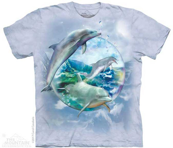 The Mountain Dolphin Bubble T-Shirt
