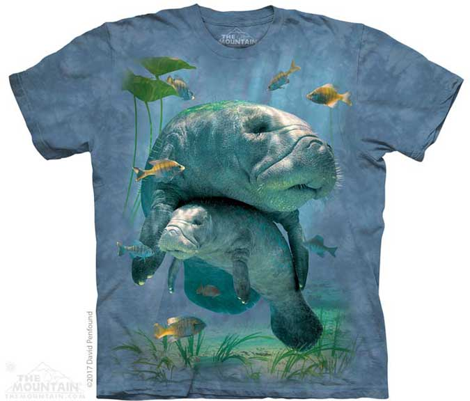 The Mountain Manatees Collage T-Shirt