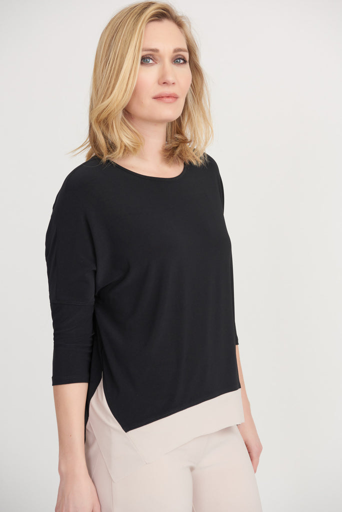 Front Two Tone Top from Joseph Ribkoff