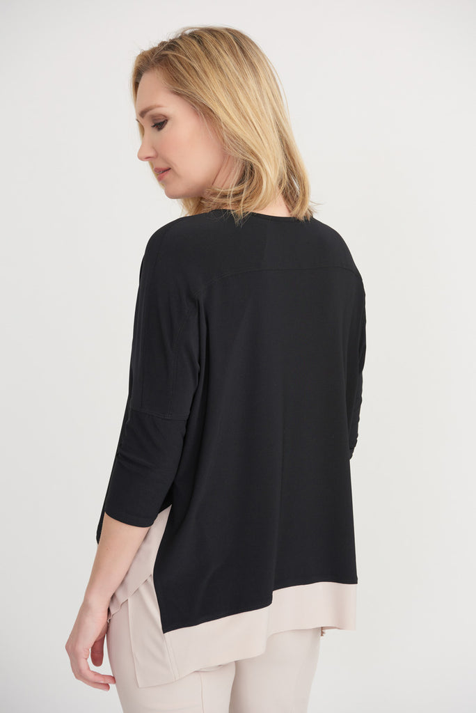 Back Two Tone Top from Joseph Ribkoff