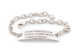 Dance in the rain - life isn't about surviving the storm - inspirational bracelet - inspirational jewelry - encouraging jewelry -