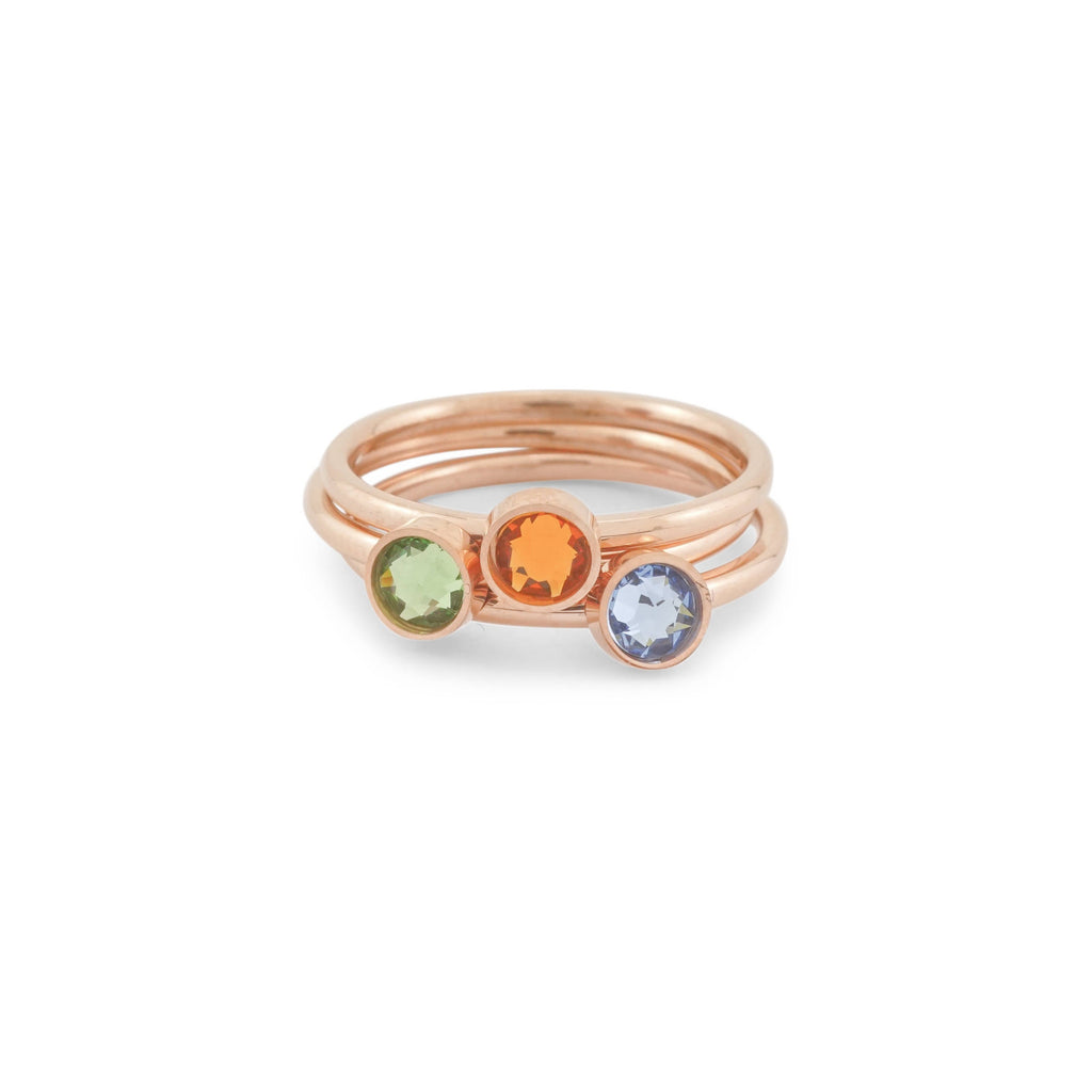 Birthstone Ring - Birthstone Stacking Rings - Swarovski Birthstone Ring - Mothers Rings  - Gift for Mothers Day - Mothers Day Present -