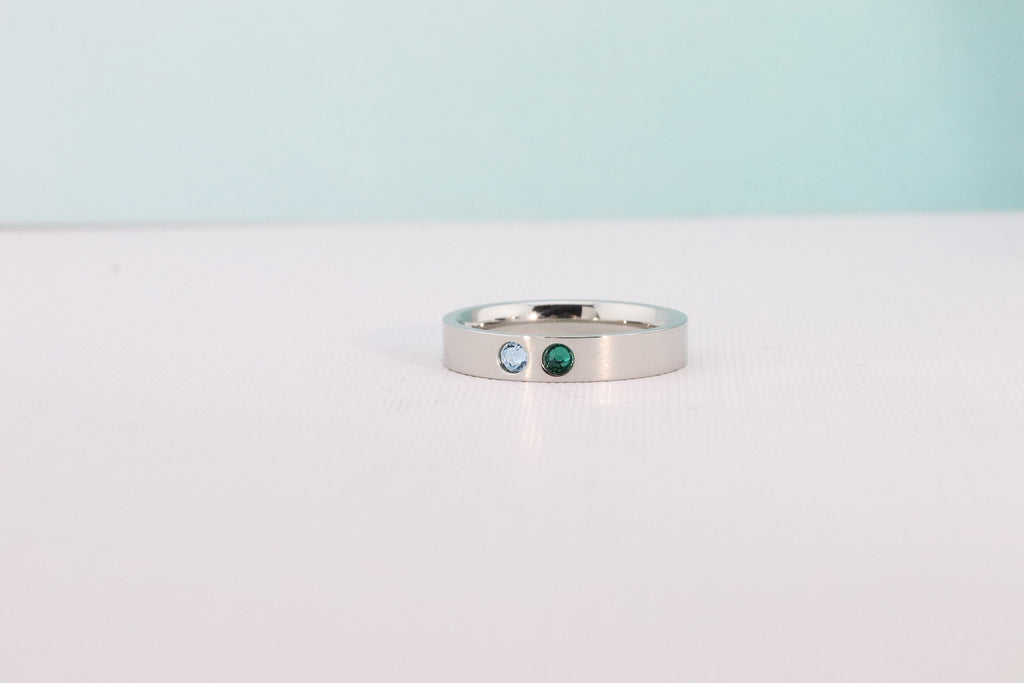 Mothers Ring Band - Mothers Birthstone Ring - Mothers Jewelry - Family Ring - Family Birthstone Ring - Mothers Day Gift - Grandmothers Ring