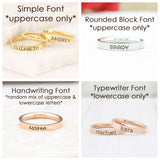Stackable Ring - Personalized Ring - Mothers Rings - Hand Stamped Ring - Personalized rings - Stacking Ring - Name Ring - Engraved Rings