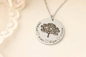 Personalized grandmothers necklace! Family Tree Necklace - Personalized family Necklace - Gift for Grandmother - Mothers Day Gift